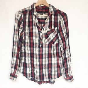 Atmosphere Plaid Button Up